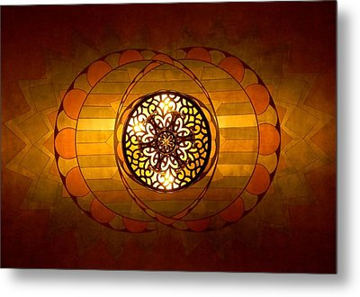 Lobby Lighting Metal Print by Accent on Photography