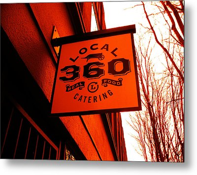 Local 360 In Orange Metal Print by Kym Backland