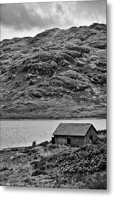 Loch Arklet Boathouse Metal Print by Chris Thaxter