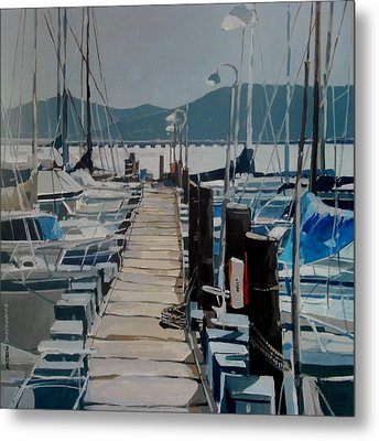 Loch Lomond Marina Metal Print
