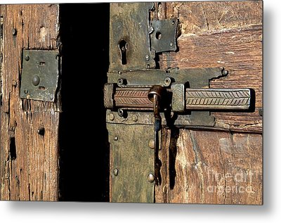Lock Of Church. France Metal Print by Bernard Jaubert