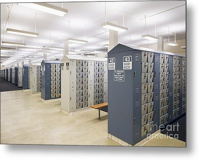 Locker Room Metal Print by Andersen Ross