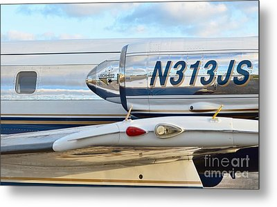 Lockheed Jet Star Engine Metal Print by Lynda Dawson-Youngclaus
