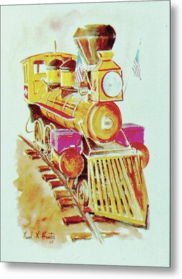 Locomotive Metal Print by Frank Hunter