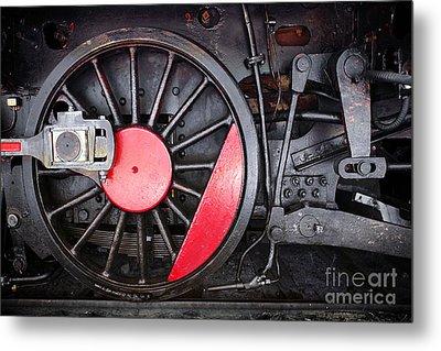 Locomotive Wheel Metal Print by Carlos Caetano