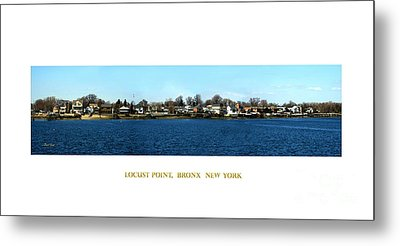 Locust Point Bronx New York Metal Print by Dale   Ford