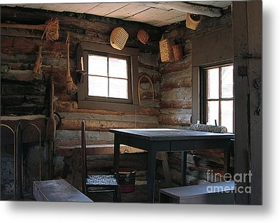 Metal Print featuring the photograph Log Cabin by Nicola Fiscarelli