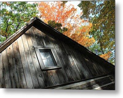 Log Cabin Metal Print by Sheryl Burns