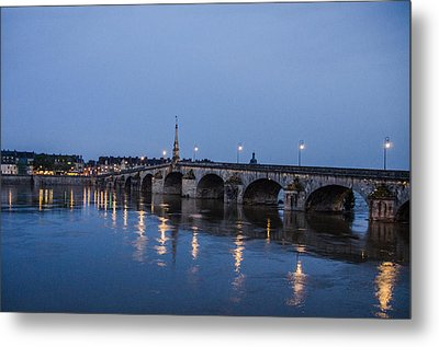 Loire River By Night Metal Print by Marta Cavazos-Hernandez