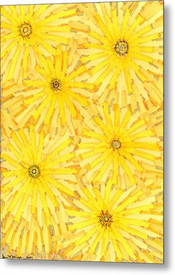 Loire Sunflowers One Metal Print by Jason Messinger