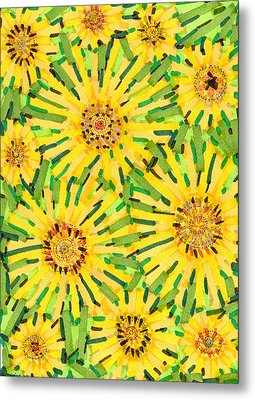 Loire Sunflowers Two Metal Print by Jason Messinger