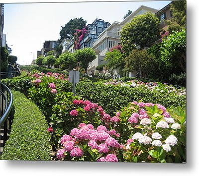 Metal Print featuring the photograph Lombard Street by Dany Lison
