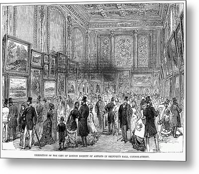 London: Exhibition, 1880 Metal Print by Granger