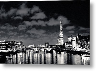 Metal Print featuring the photograph London Lights At Night by Lenny Carter