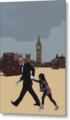 London Matrix Baddie Agent Smith Metal Print by Jasna Buncic