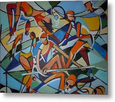 London Olympics Inspired Metal Print by Michael Echekoba