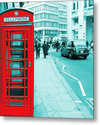 London Phone Booth Metal Print