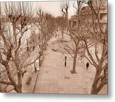 London River Walk Metal Print