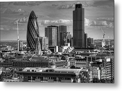 Metal Print featuring the photograph London Skyline Bw I by Jack Torcello