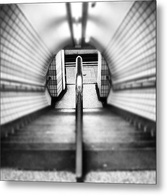 #london #uk May 2012| #underground Metal Print by Abdelrahman Alawwad