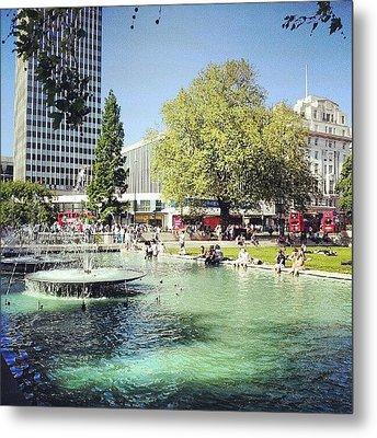 #london #water #summer #sun #hyepark Metal Print by Abdelrahman Alawwad