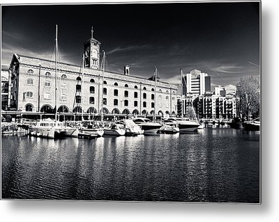 Metal Print featuring the photograph London Yachts by Lenny Carter