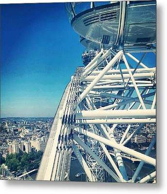 #londoneye #sky #clouds #high #london Metal Print