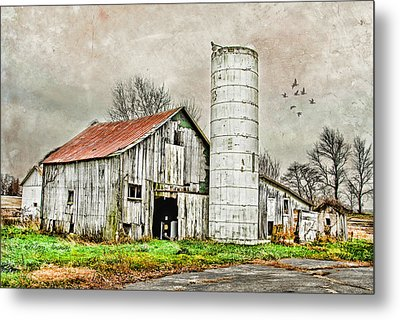 Metal Print featuring the photograph Lone Barn by Mary Timman