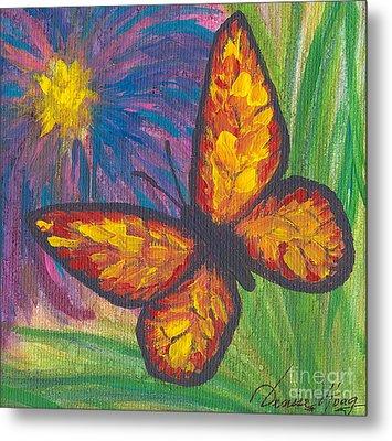Lone Butterfly Metal Print by Denise Hoag