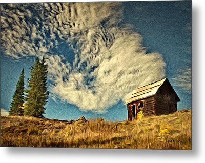 Lone Cabin Metal Print by Jeff Kolker