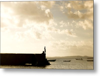 Lone Fisher Metal Print by Royce Gorsuch
