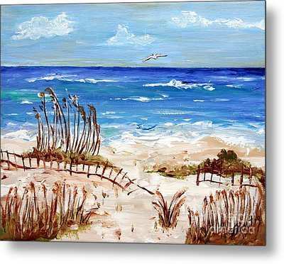 Lone Gull Metal Print by Jeanne Forsythe
