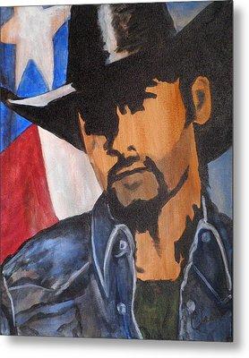 Lone Star Cowboy Metal Print