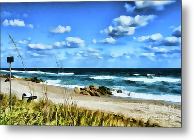 Lonely Beach Metal Print