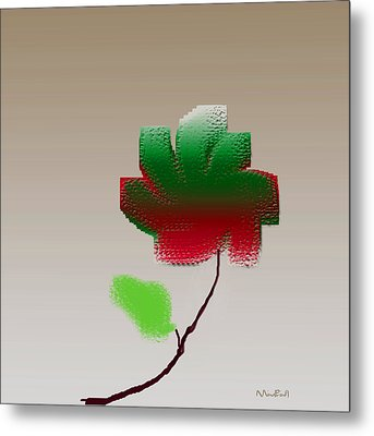 Metal Print featuring the digital art Lonely Beauty by Asok Mukhopadhyay