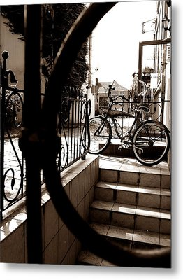 Lonely Bike Metal Print by Birut Ces