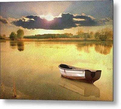 Lonely Boat Metal Print by JimPix