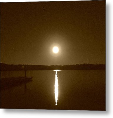 Lonely Moon Rise Metal Print by Jessica Hatton