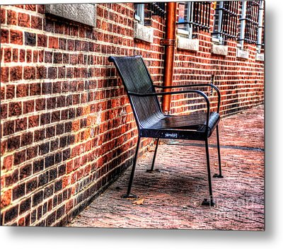 Lonely Seat Metal Print by Debbi Granruth
