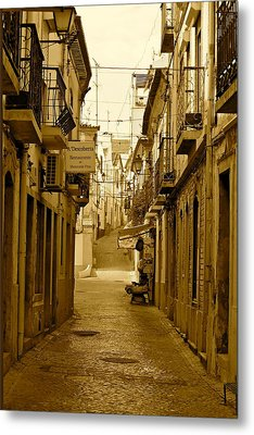 Lonely Street Metal Print by Michael Cinnamond