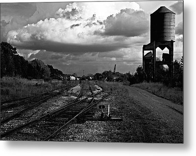 Metal Print featuring the photograph Lonely Water Tower by Randall  Cogle