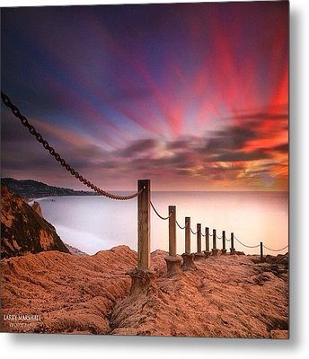 Long Exposure Sunset Shot From The Metal Print by Larry Marshall