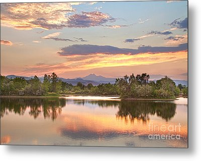 Longs Peak Evening Sunset View Metal Print by James BO  Insogna