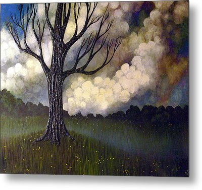 Metal Print featuring the painting Lonsome Tree 0001 by Monica Furlow