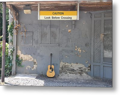 Look Before Crossing Metal Print by Bill Cannon