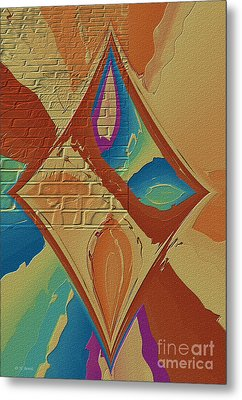 Look Behind The Brick Wall Metal Print by Deborah Benoit