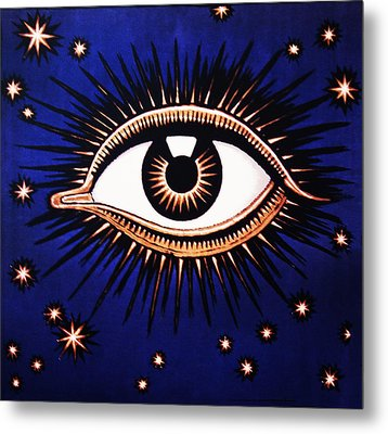 Look Em In The Eye Metal Print by Bill Cannon