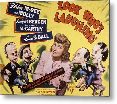 Look Whos Laughing, Edgar Bergen Metal Print by Everett