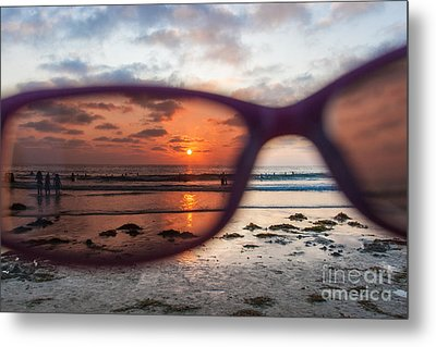 Looking At Life Through Rose Colored Glasses Metal Print by Sonny Marcyan