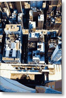 Looking Down Color 16 Metal Print by Scott Kelley